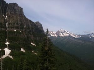 Photo of scenery in Glacier National Park.