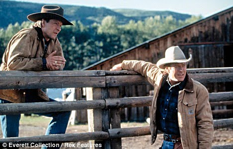 A scene with Robert Redford from The Horse Whisperer.