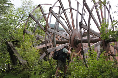 Jaz taking a photo of massive wheels