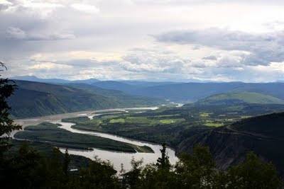 Beautiful view of the Yukon River from a distance
