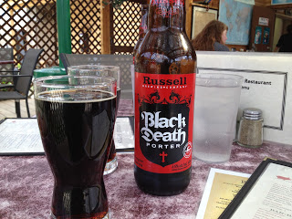 A glass of Black Death Porter