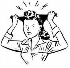 Image of frustrated girl pulling her hair out