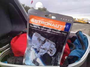 "Image of package titled, ""ASTRONAUT: Chocolate Ice Cream with Chocolate Chips"""