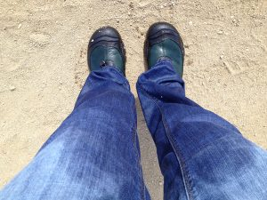 Image of Judy's soaking wet pants and shoes.