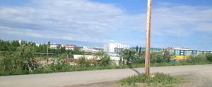Image of the small town of Inuvik from afar