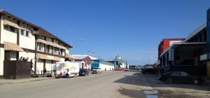 Image of downtown Inuvik with a few gift shops