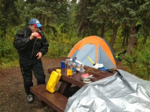 Blogging by headlamp on the Denali Highway