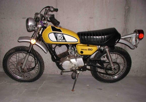 Image of a Yamaha 80 (Yellow)
