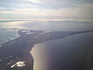 Image of Kotzebue taken from inside a plane