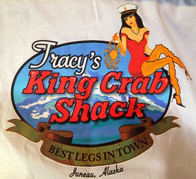 "Image of a sign reading, ""Tracey's Crab Shack Best Legs in Town"""