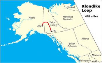 Image of a map of the Klondike Loop